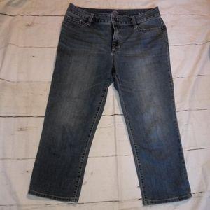 Women's St Johns Bay Stretch Capri Jeans Size 12